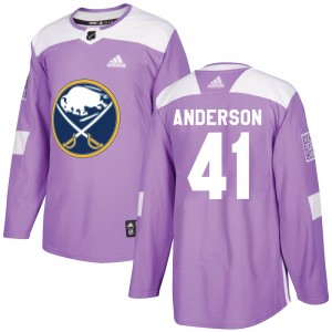 Craig Anderson Youth Adidas Buffalo Sabres Authentic Purple Fights Cancer Practice Jersey